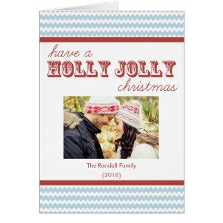 Jolly vikt julkort för modern sparrejärnek hälsningskort