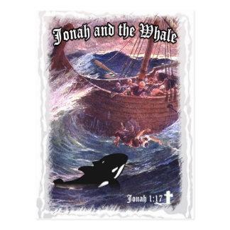 Jonah 1:17 - Jonah och val Vykort