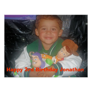 Jonathan 3rd bday rykte poster
