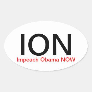 JONEN Impeach Obama NU Ovalt Klistermärke