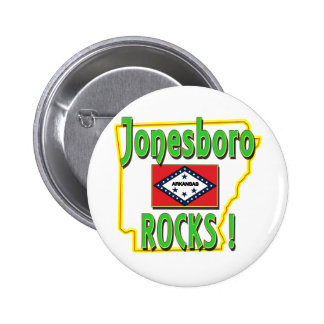 Jonesboro stenar! (grönt) standard knapp rund 5.7 cm
