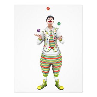 Jonglera clownen brevhuvud