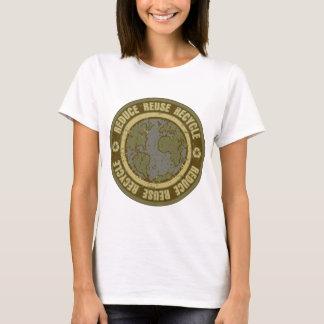 Jord återanvänd Grunge Tee Shirts