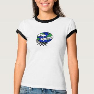 Jord-Dag daglig dam tshirt Tee Shirts