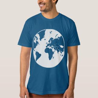Jord/manar toppna mjuka organiska T-tröja Tee Shirt