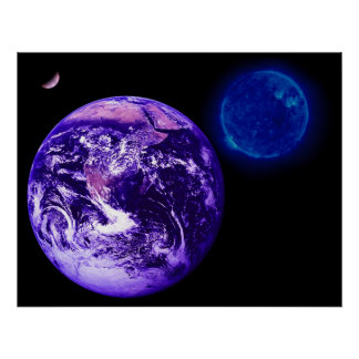 Jord sol Venus Affisch