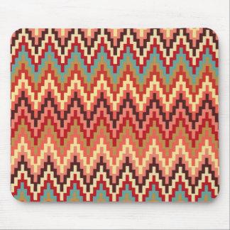 Jord tonar mönster för randar för den Ikat Musmatta