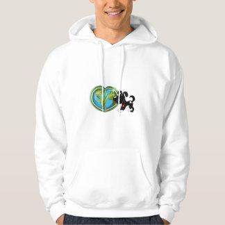 Jorda en kontakt dagen och skugga sweatshirt med luva