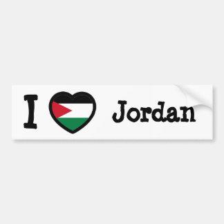 Jordanienflagga Bildekal