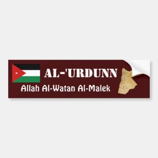Jordanienflagga + Kartabildekal Bildekal