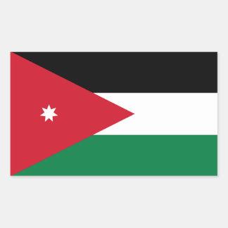 Jordanienflagga Rektangulärt Klistermärke