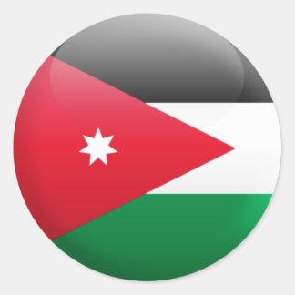Jordanienflagga Runt Klistermärke