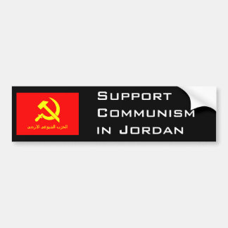 Jordansk kommunistisk flagga bildekal