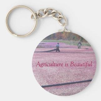 Jordbruk är härligt - Cranberrystil Rund Nyckelring