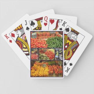 Jordbruksprodukter som leker kortCollage 02 Kortlek