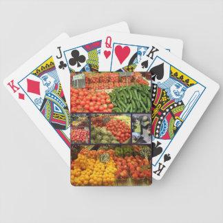 Jordbruksprodukterpoker Cards Collage 02 Spelkort
