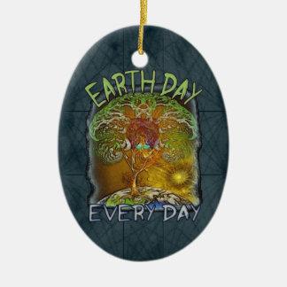 Jorddag varje dagpersonlig julgransprydnad keramik