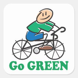 Jorddagen går grönt fyrkantigt klistermärke