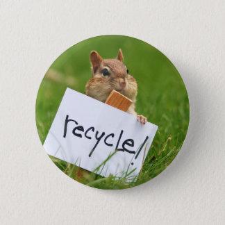jordekorre för återvinning standard knapp rund 5.7 cm