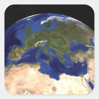 Jorden 7 för blåttmarmornästa generation fyrkantigt klistermärke