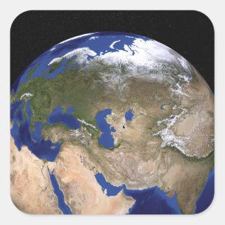 Jorden för blåttmarmornästa generation fyrkantigt klistermärke