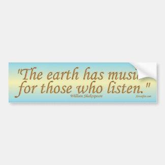 Jorden har musikbildekalet