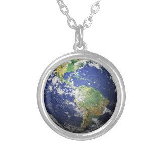 Jorden Silverpläterat Halsband
