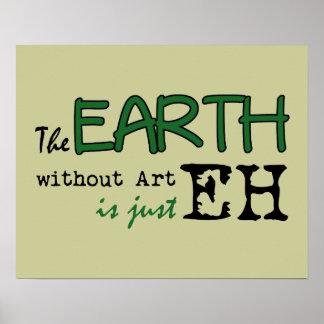 Jorden utan konst poster