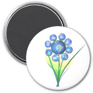 Jordens dagblomma magnet