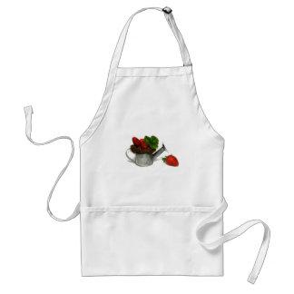 jordgubbar, förkläde
