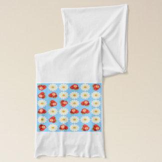 Jordgubbar och daisy sjal