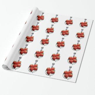 Jordgubbar och kräm presentpapper