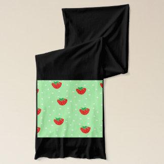 Jordgubbar och polka dotsMintgrönt Sjal