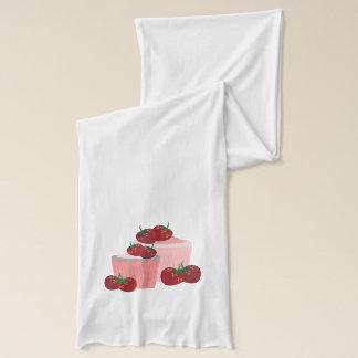 Jordgubbe- och muffinskonst sjal