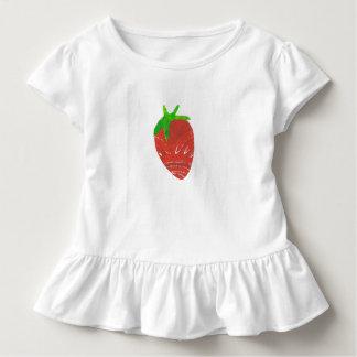 Jordgubbeflicka småbarn rufsar utslagsplatsen t-shirt