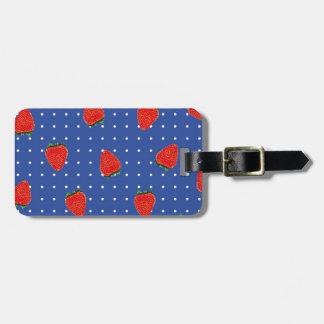 jordgubbemönster med pricker bagagebricka