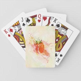 Jordgubbestänk! Vattenfärg Spel Kort