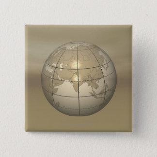 jordklot 3D Standard Kanpp Fyrkantig 5.1 Cm