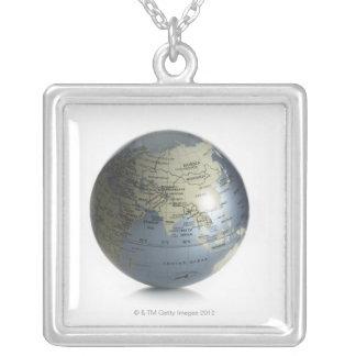 Jordklot 4 silverpläterat halsband