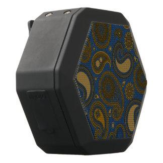 Jordnärat brunt Paisley mönster på blåtttyg Svart Bluetooth Högtalare
