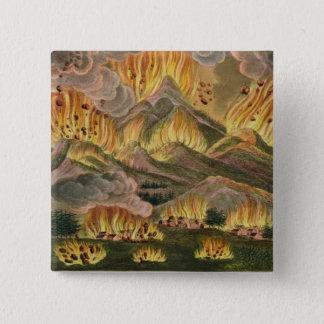 Jordskalv och utbrott av berg av Asama-y Standard Kanpp Fyrkantig 5.1 Cm