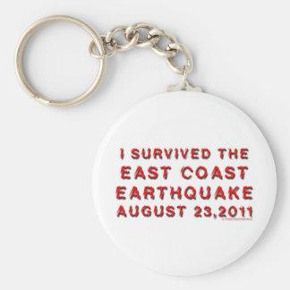 Jordskalv Rund Nyckelring