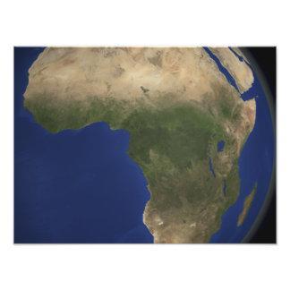 Jordvisninglandcover över afrika fototryck