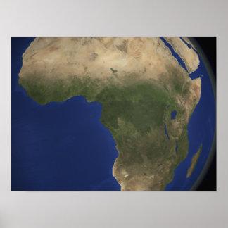 Jordvisninglandcover över afrika poster