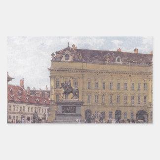 Josefen kvadrerar i Wien av Rudolf von Alt Rektangulärt Klistermärke