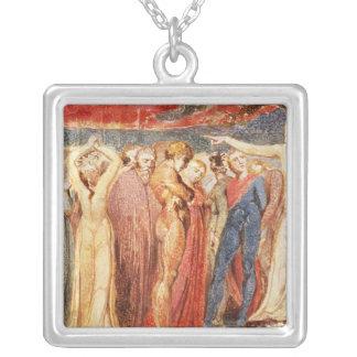 Joseph av Arimathea att predika Silverpläterat Halsband