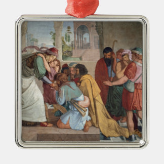 Joseph avslöjer självt till hans bröder - julgransprydnad metall