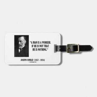 Joseph Conrad en man är ett Bagagebricka