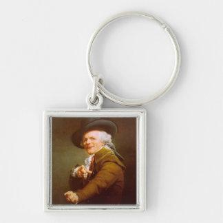 Joseph Ducreux Fyrkantig Silverfärgad Nyckelring
