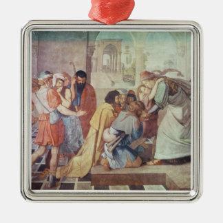 Joseph kände igen vid hans bröder julgransprydnad metall
